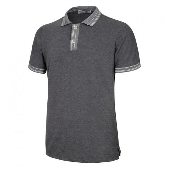 Áo thun nam cổ bẻ thời trang phong cách đơn giản chuẩn pigofashion aht22 màu xám