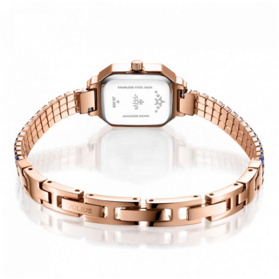Đồng hồ nữ dây kim loại chính hãng Julius Star Hàn Quốc JS-006D (xanh)