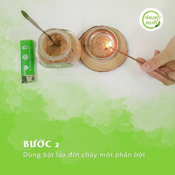 Bột xông trầm hương cao cấp - 50g - kháng khuẩn - phương pháp hội đồng y dược việt nam khuyên dùng