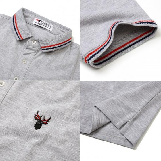 Bộ 3 áo thun nam polo pigofashion AHT16 màu đốm vịt, xám, xanh bích