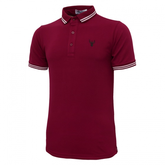 Bộ 3 áo thun nam polo pigofashion AHT16 màu đỏ đô, bích, xanh da