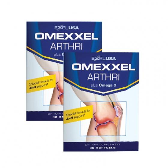 Combo 2 hộp viên uống bổ khớp,ngăn ngừa thoái hóa khớp Omexxel Arthri 60 viên - Tặng viên uống Omexxel Calk2 30 viên