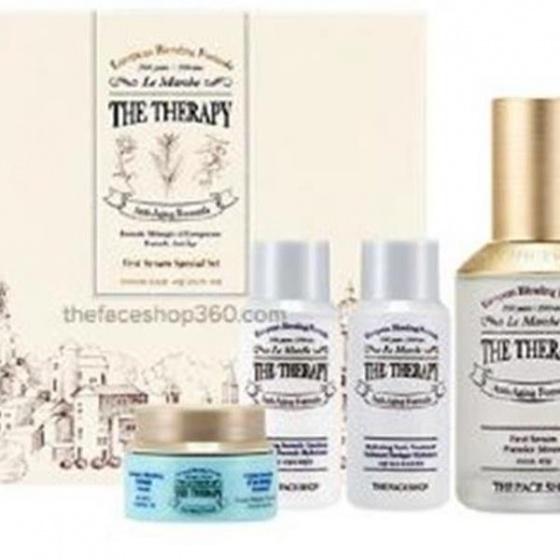 Set dưỡng chống lão hóa chức năng kép The Face Shop The Therapy First Serum Special Set