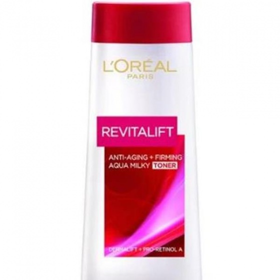 Nước hoa hồng săn chắc da giảm nếp nhăn Loreal Paris Revitalift Aqua Milky 200ml