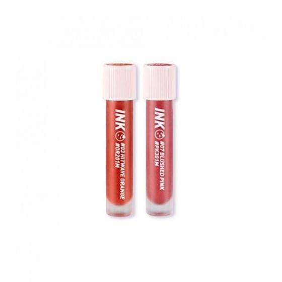 Son kem Peripera ink matte blur tint 03 hitwave orange