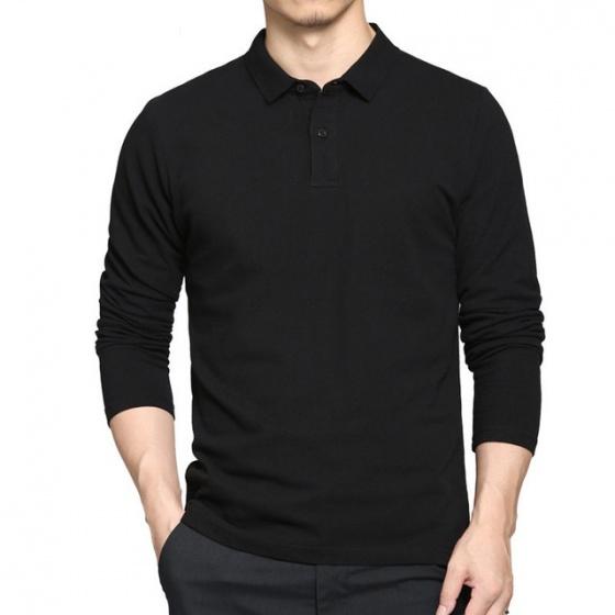 Áo thun nam có cổ tay dài phong cách sành điệu pigofashion pg09 màu đen