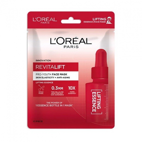 Mặt nạ giấy dưỡng chất cô đặc săn chắc da Loreal revitalift proyouth face mask skin elasticity + antiaging 30ml