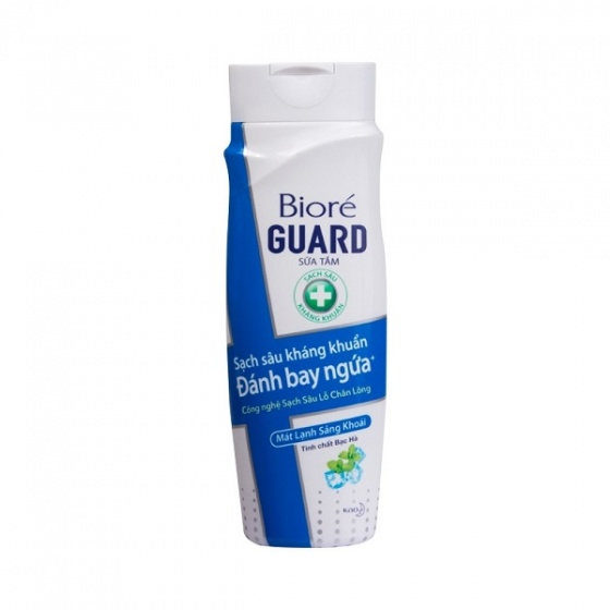 Sữa tắm kháng khuẩn mát lạnh sảng khoái Bioré Guard  220ml