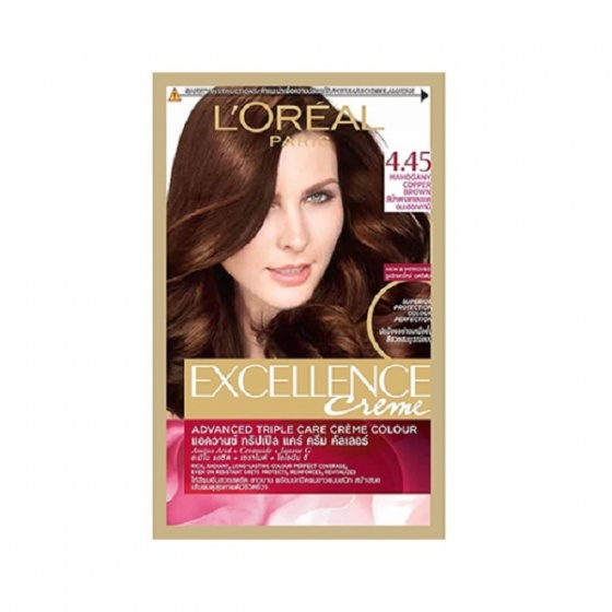 Thuốc nhuộm tóc LOreal 4.45 Mahogany Copper BrownCream Hair Color Excellence 172ml