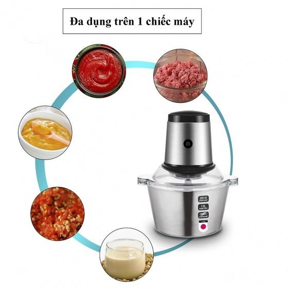 Máy xay thịt đa năng cối inox Mishio MK-157 1.8L