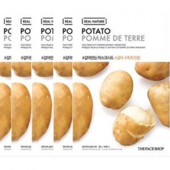 Mặt nạ cấp ẩm và dưỡng sáng The Face Shop Real Nature Potato Face Mask 20ml