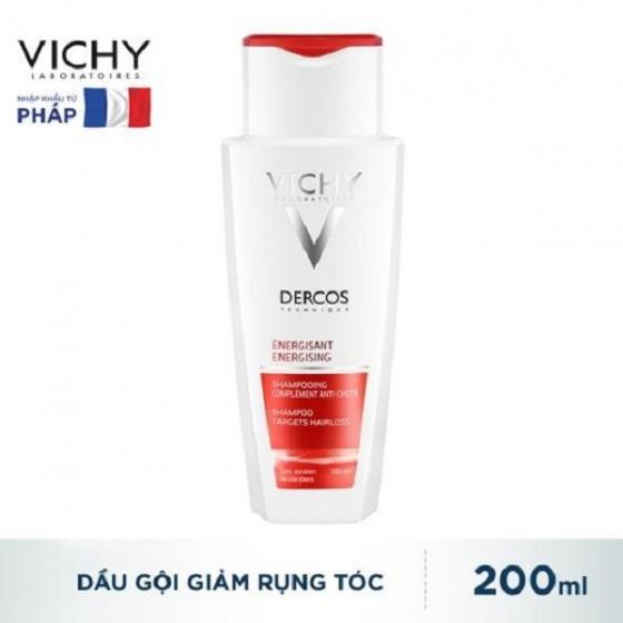 Dầu gội ngăn ngừa và giảm rụng tóc Vichy Dercos Energising Shampoo Hairloss 200ml