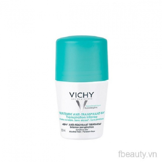 Lăn khử mùi khô thoáng 48h Vichy Traitement AntiTranspirant 50ml [QC-Vneshop]