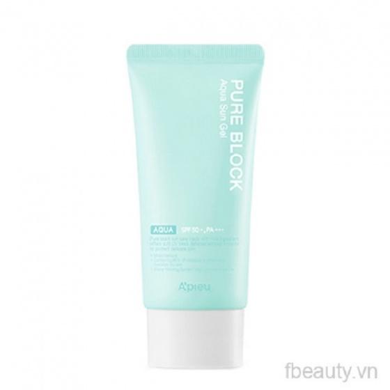 Gel chống nắng Apieu Pure Block Aqua Sun Gel SPF50PA 50ml
