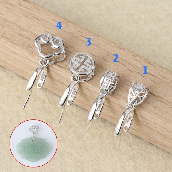 Khoen bạc móc mặt dây chuyền phật, tỳ hưu, hồ ly JK204(kiểu 4) - Ngọc Quý Gemstones
