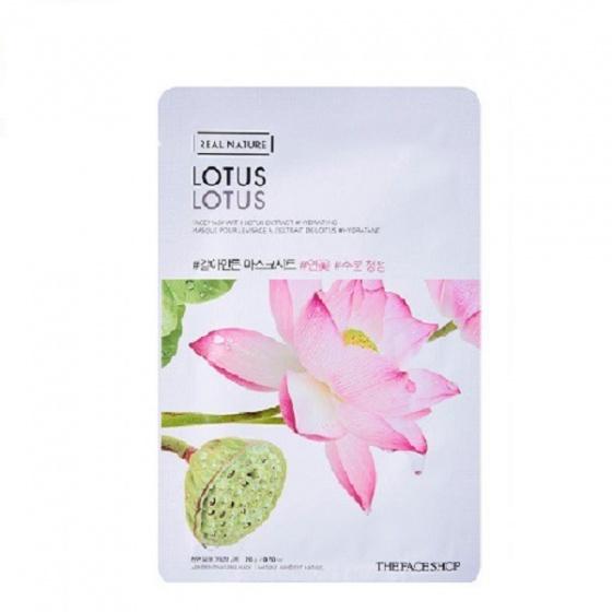 Mặt nạ sáng hồng da The Face Shop Real Nature Lotus Face Mask  20ml