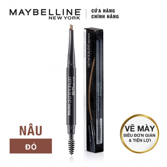 Chì chân mày Define Blend Brow Pencil Maybeline, red brown