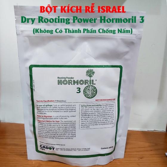 Bột kích thích ra rễ Israel giâm chiết cành dành cho cây thân mềm, thân thảo - Dry Rooting Power Hormoril 3