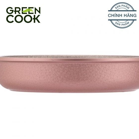Chảo đúc vân đá chống dính 18cm Green Cook GCP05-18