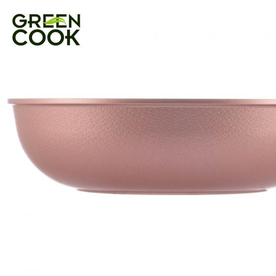 Chảo đúc vân đá đáy từ sâu lòng chống dính 20cm Green Cook GCP05-20IH