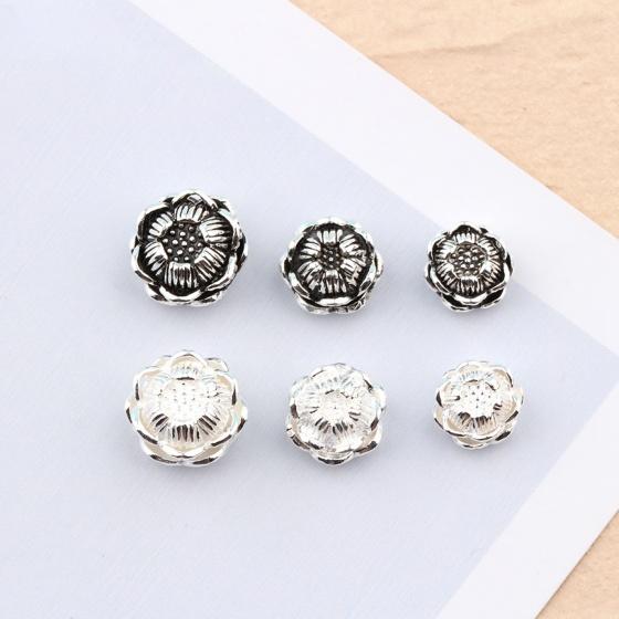 Charm bạc sen hoa xỏ ngang (bạc thái) - Ngọc Quý Gemstones