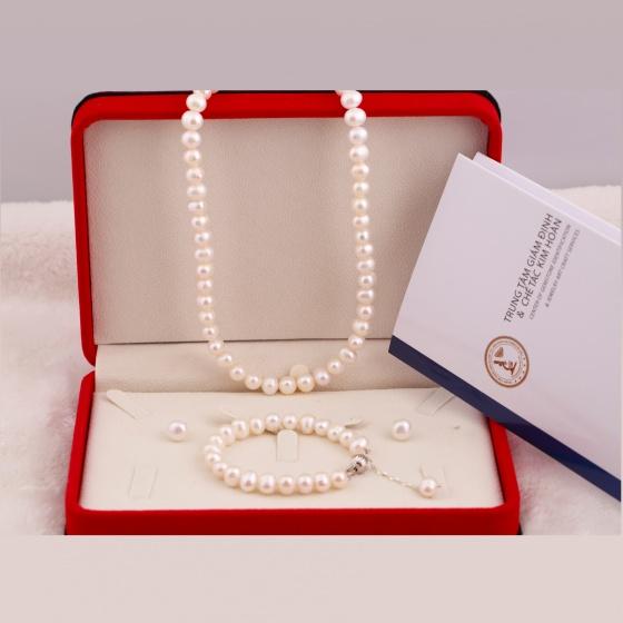 Bộ ngọc trai trắng Opal POTD6-02