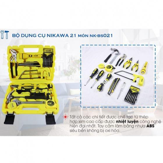 Bộ dụng cụ sửa chữa đa năng Nikawa 21 món NK-BS021