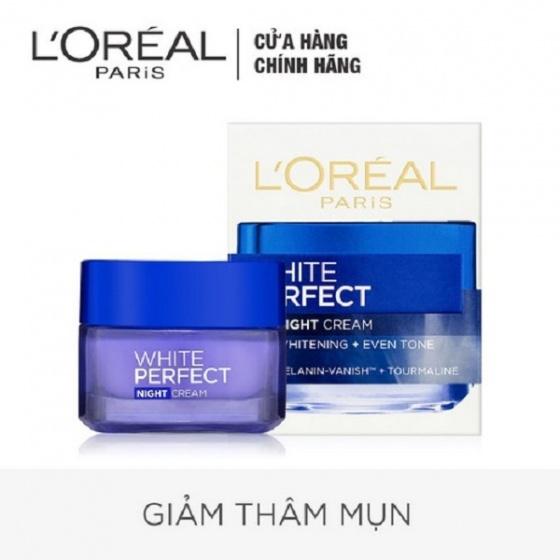 Kem dưỡng trắng sáng LOreal White Perfect Ban Đêm SPF17 PA++ 50ml