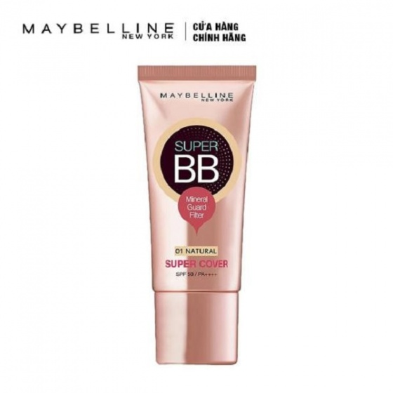 Kem trang điểm Maybelline Super BB Super Cover 01NA SPF50PA 30ml