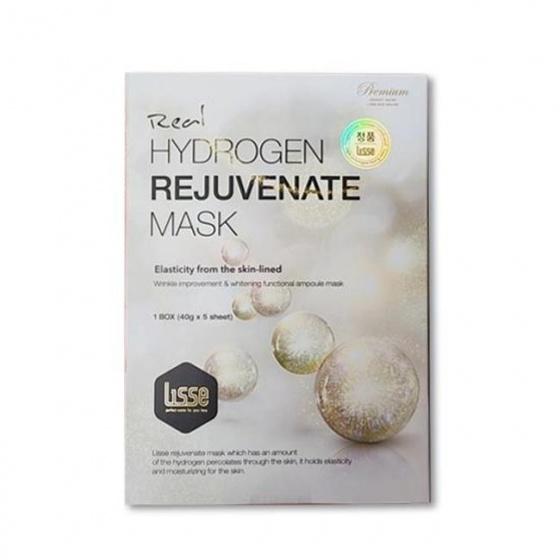 Mặt nạ dưỡng trắng nâng cơ Lisse Real Hydrogen Rejuvenate Mask Set 3 Miếng Lẻ (40g 1 Miếng)