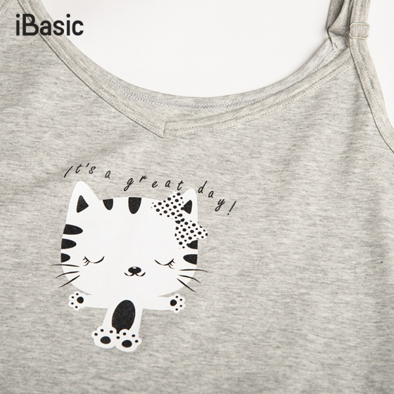 Đầm ngủ cotton hai dây nữ iBasic SY003