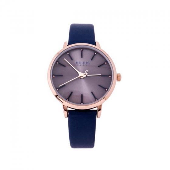 Đồng hồ nữ dây da chính hãng Julius Hàn Quốc JA-1034E Xanh