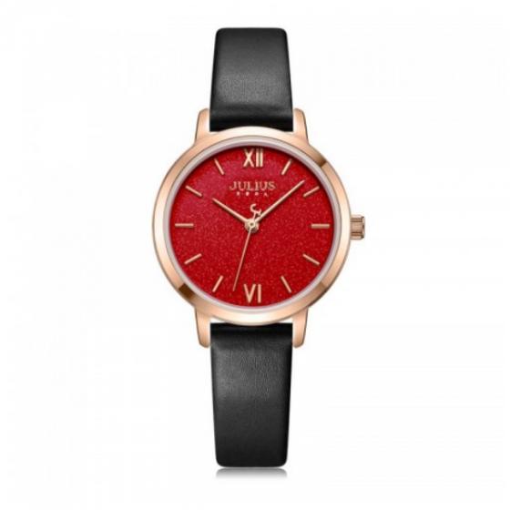Đồng hồ nữ chính hãng JULIUS Hàn Quốc JA-1127D Đen mặt đỏ