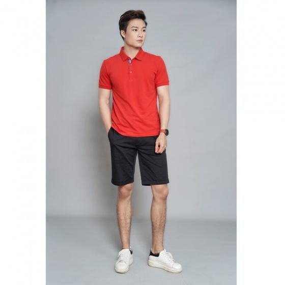 Áo phông nam ngắn tay màu 3 đỏ DGC - SAP1911M