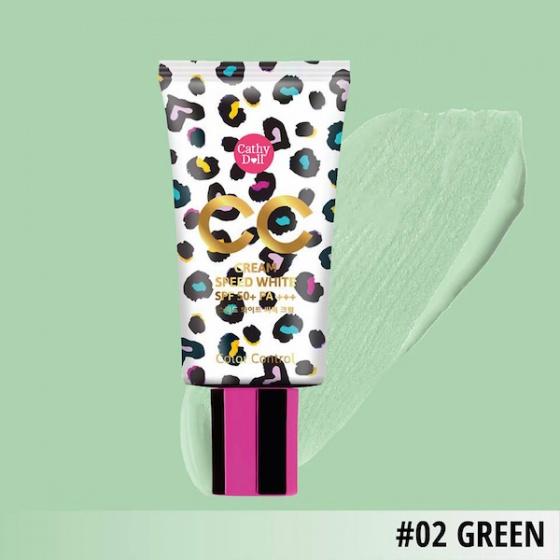 Kem nền Cathy Doll speed white Cc Cream Spf 50 Pa+++ Green 2 50ml