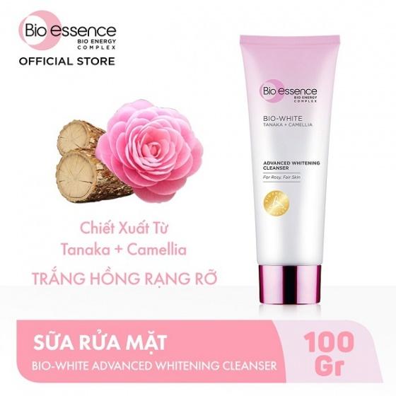 Sữa rửa mặt dưỡng sáng da Bio Essence white tanaka + camellia advanced whitening cleanser 100ml