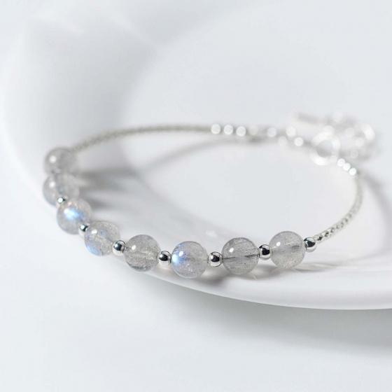 Vòng tay bạc đá xà cừ mệnh thủy, kim- Ngọc Quý Gemstones