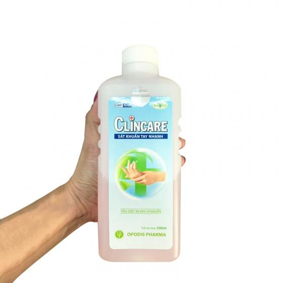 Nước dung dịch rửa tay khô sát khuẩn nhanh CLINCARE 500ml