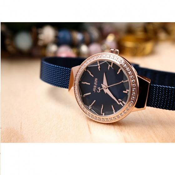 Đồng hồ nữ chính hãng julius Hàn Quốc JA1043D (Xanh đen)