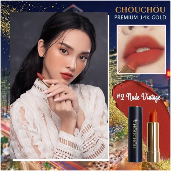 Son thỏi Chou Chou no.2 nude vintage premium matte 14k gold edition 3.5g