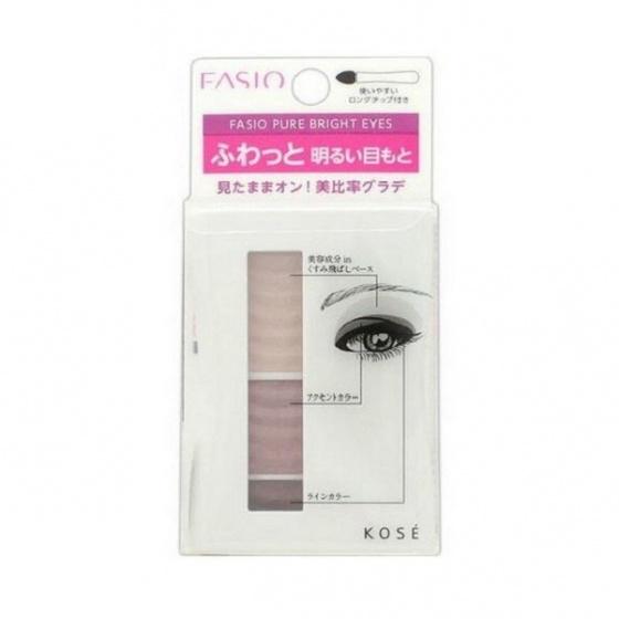 Phấn mắt 3 màu Kosé Fasio Pure Bright Eyes BR3 4.1g