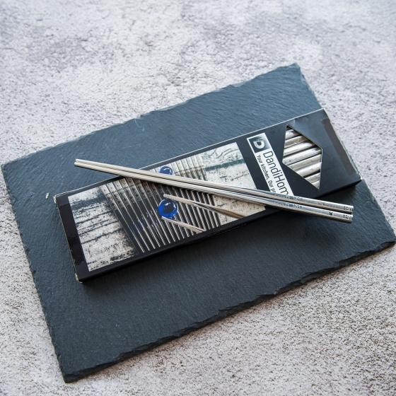 Bộ 10 đôi đũa inox 304 - 316 DandiHome 2020 chống trơn trượt, sang trọng, tinh tế