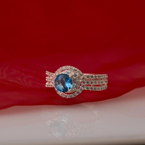 Nhẫn bạc đính đá Ross - Opal - RT5-03