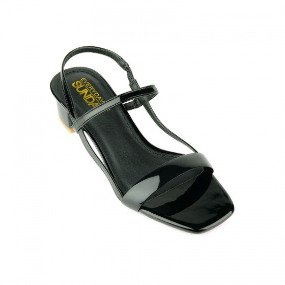 Giày sandal gót vuông SUNDAY DV66 - Màu đen