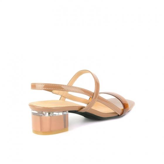 Giày sandal gót vuông SUNDAY DV66 - Màu nâu