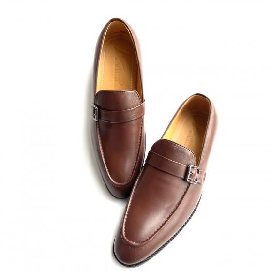 Giày lười da bò hàng Việt nam - Bảo hành 1 năm