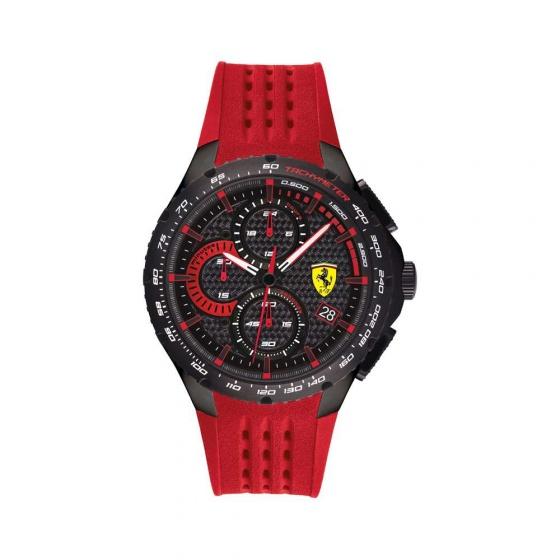 Đồng hồ Ferrari 0830727 nam chronograph lịch ngày dây cao su 44mm