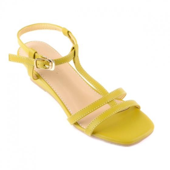 Giày sandal đế xuồng quai chữ t SUNDAY DX25 - Màu vàng