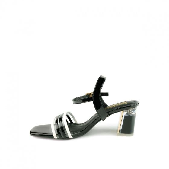 Giày sandal cao gót SUNDAY DV68 - Màu đen