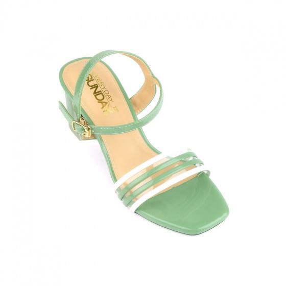 Giày sandal cao gót SUNDAY DV68 - Màu xanh rêu